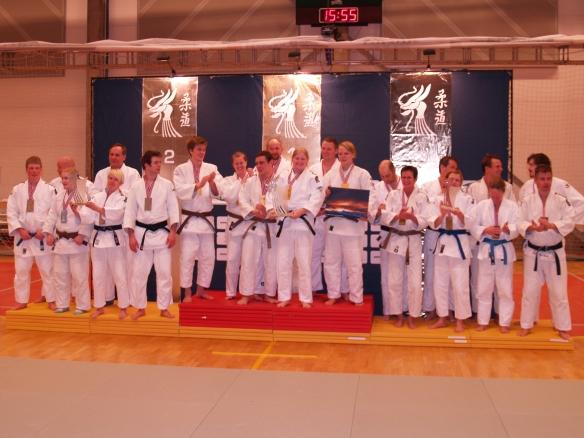 Senior mix: Gull BK-judo, sølv Bodø JC og bronse Slemdal JK