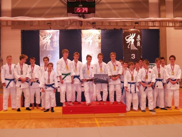 U17G: Gull Sandnes JK, sølv Ippon JK 1, bronse Stord JK og Bodø JC