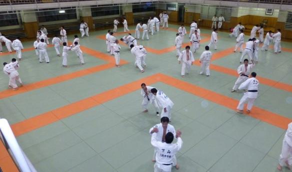 Trening på Kodokan. Foto: NTG