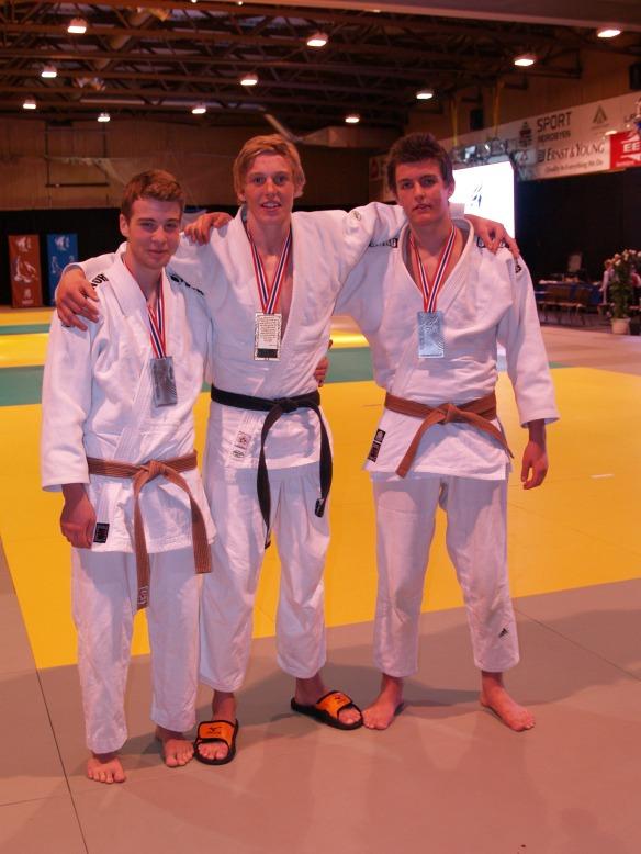 U21, f.v: sølv til Jørgen Ruiz Garcia, gull til Henrik Reitan og sølv til Nils Robin Bjørklund.