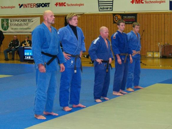 Senior, f.v.: Egil Kvåle, Henrik Reitan, Lars Erik Bjørås, Jørgen Ruiz Garcia og Linus Angel Vinje.