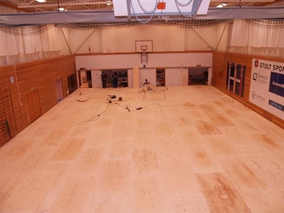 375 kvadratmeter judogolv er ferdig!