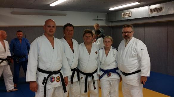 F.v.: Tore Brenne, Snorre Johansen, Vasily Smolin, Ingebjørg Holbø og Alf Birger Rostad.