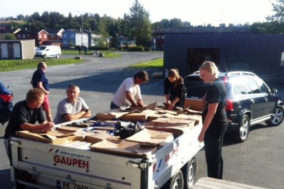 Dugnad 3. sept; Thor, Gunnar, Pål, Jan Arild, Kari-Anne & Ingebjørg