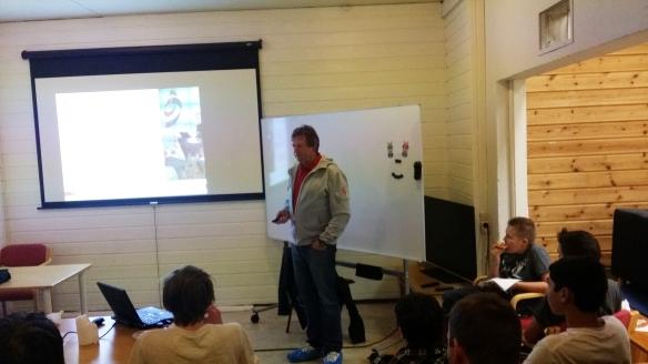 Oddbjørn Floan holdt foredrag om antidoping.