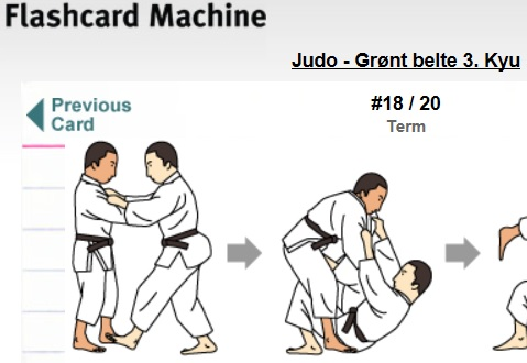 Digital læring av judopensum.
