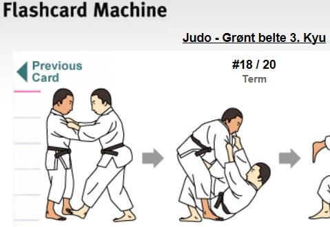 Digital læring av judopensum.