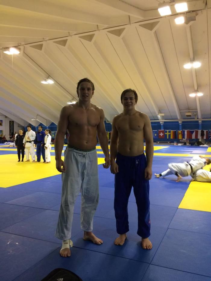To atleter på treningsleir, Henrik Reitan og Matias Kollerud, Ippon Jk.