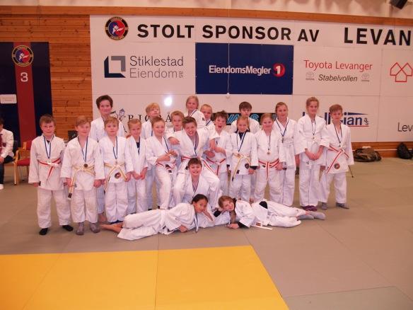 Levanger Judoklubbs meget flinke deltakere i U11 og U13.